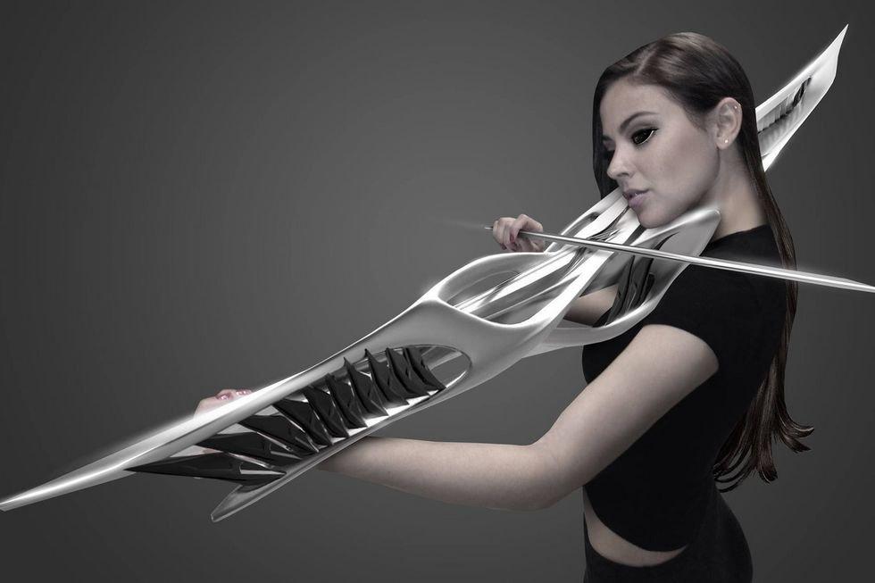 Piezoelektryczne skrzypce przyszłości z drukarki 3D