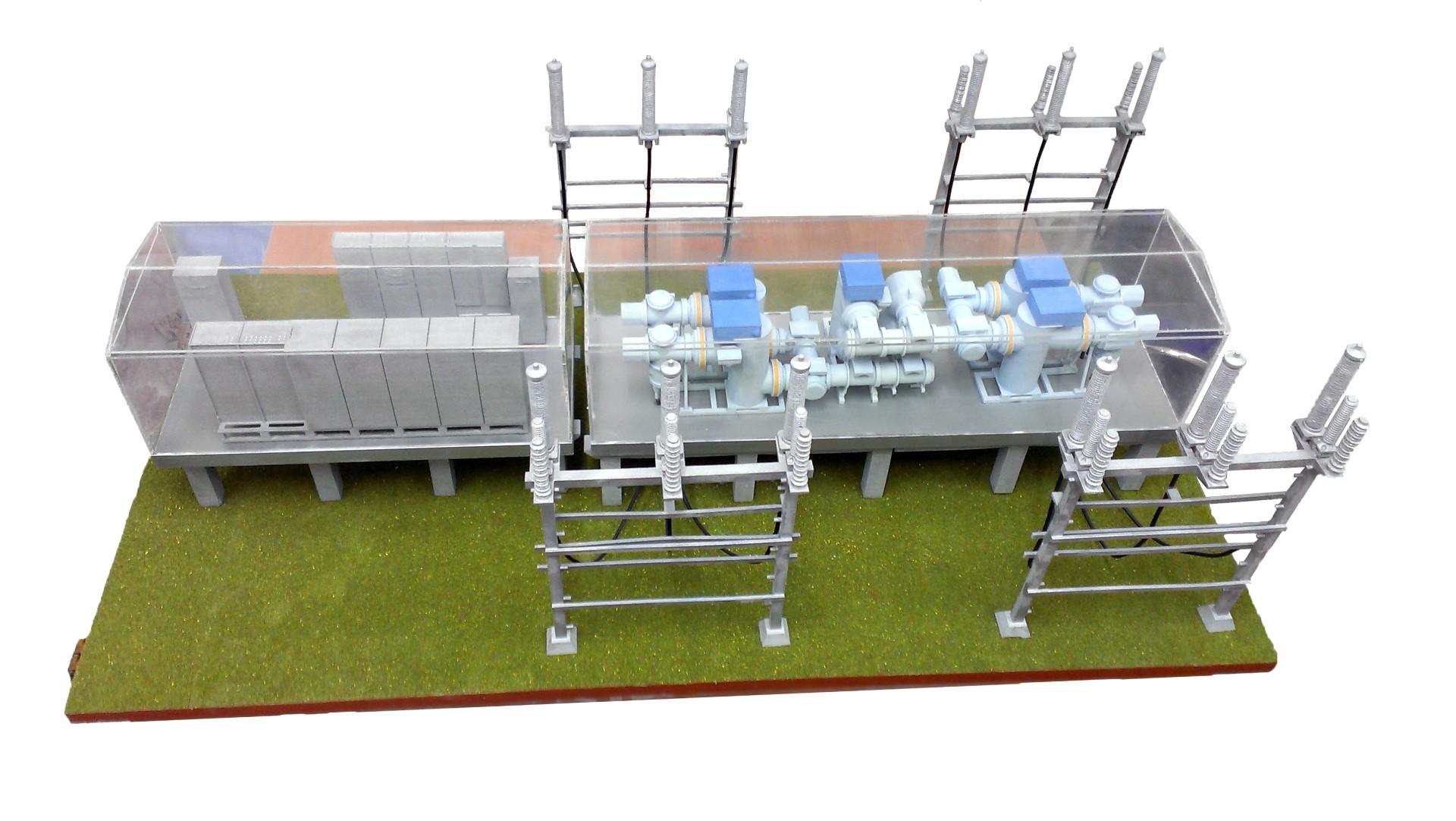 druk 3D CJP makieta stacji transformatorowej