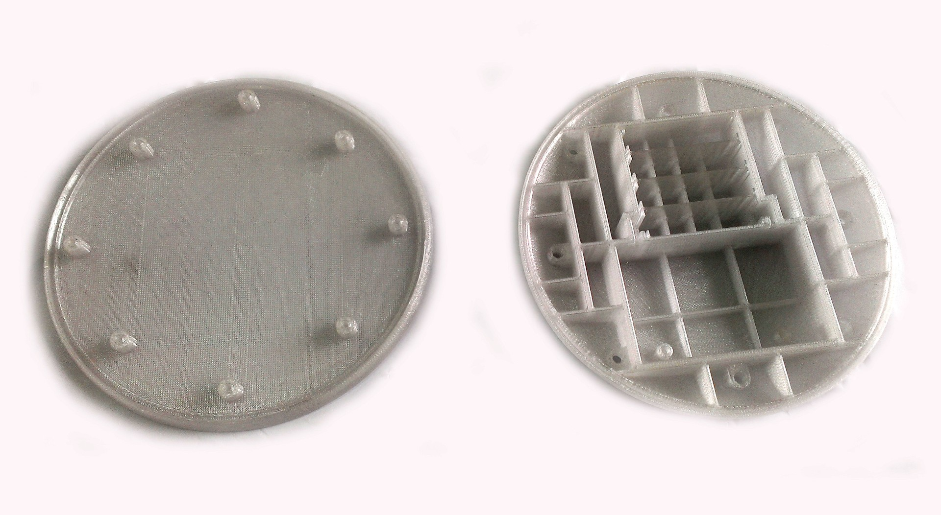 druk 3D FDM transparentna obudowa lampy wbudowanej w jezdnie