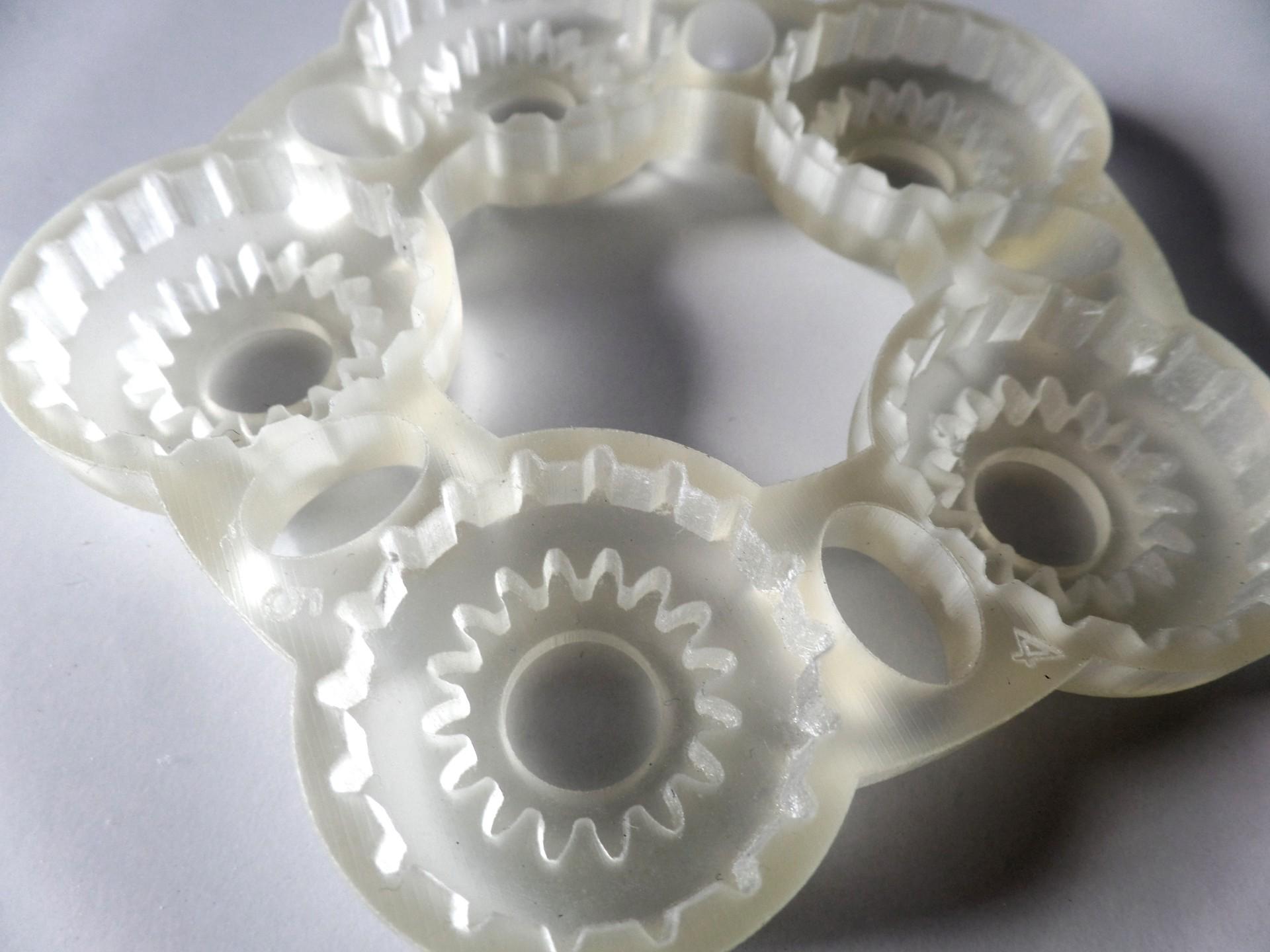 druk 3D MJM element trzybiegowej przekladni do rowerow