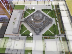 makieta architektoniczna - hala stulecia