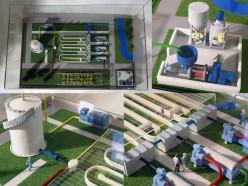 makieta architektoniczna - stacja biopaliw